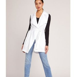 BB Dakota Wrap White Star Drape Vest